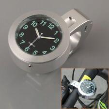 "Motorcycle Motorbike 7/8"" 1"" Universal Handlebar Bar Mount Clock Waterproof New"