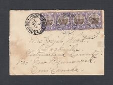 BERMUDA 1909 COVER PAGET EAST TO SACKVILLE NEW BRUNSWICK CANADA