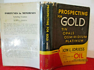 Ion L Idriess PROSPECTING FOR GOLD  hcdj 1962 AUSTRALIAN AUTHOR