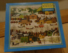 Charles Wysocki Blossom River Junction 1000 Piece Puzzle Complete
