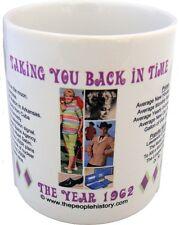 1962 Year In History Coffee Mug Includes Gift Box Born In 1962 Birthday Gift
