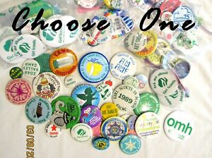 45  Pinback BUTTONS Girl Scout COUNCILS, COOKIES, CAMPS, ANNIVERSARY Choose ONE