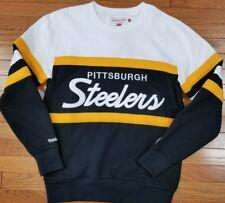 Pittsburgh Steelers Mitchell & Ness NFL Men's Head Coach Crew Sweatshirt Black