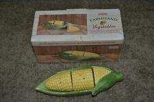 Sakura Farmstand Vegetables Corn on the Cob Salt Pepper & Shakers VGC!!!