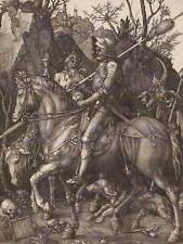 Albrecht durer chevalier mort diable old master art painting print poster 078OMB