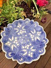 "CHARLESTON SOUTH CAROLINA Raku Blue Willow ONE OF A KIND Bowl Pottery Dish 9"""
