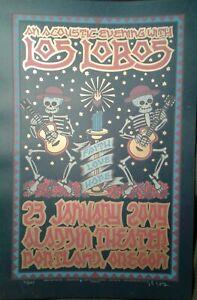 Los Lobos Concert Poster Portland OR Alladin Theater 1/23/09 Gary Houston