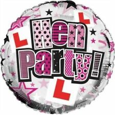 """Hen Night Party - L Plate - Bridal -  Helium Foil Balloon 18"""""""