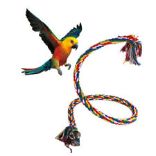 Bird Cockatiel Bell Perch Chew Climbing Rope Budgie Coil Swing Cage Toy Ca