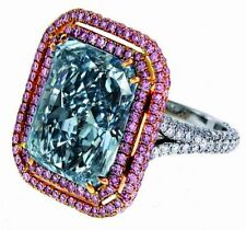 7ct Cocktail Party Ring 925 Sterling Silver Cushion Double Halo Women Jewelry Cz