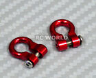 RC 1/10  Scale Truck  Accessories METAL ANCHOR SHACKLES - RED - (2)