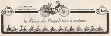 Publicité La Cyclette   Bicyclette à moteur  vintage print ad  1923  - 2h
