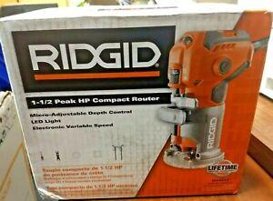RIDGID R2412 1.5 HP 5.5A Corded Compact Router - Orange