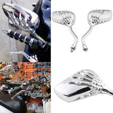 CHROME SKULL HAND REARVIEW MIRRORS FOR SHADOW REBEL750 1100 VTX VT1300 1800 LR