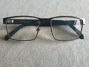 Jensen gunmetal / green glasses frames. 703.
