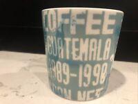 Starbucks 2006 Coffee Mug Product of Guatemala 16 oz Teal Collectible Cup EUC!!!