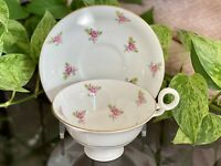 VINTAGE RADFORDS BONE CHINA PINK ROSES TEA CUP AND SAUCER SET MADE IN ENGLAND