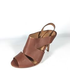 """Aerin """"Cambel"""" Women's Size 7.5 M Brown Leather Sandal Heels"""