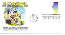5274 Illinois Statehood Panda Cachets, FDC