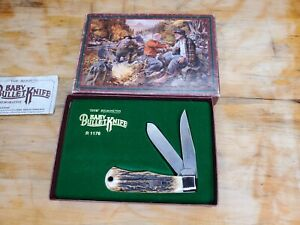 VINTAGE REMINGTON STAG BABY BULLET KNIFE IN BOX (MADE IN THE U.S.A.)