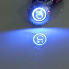 Blue 16mm 12V LED Push Button Metal Toggle Switch Main Beam Light Symbol Sales