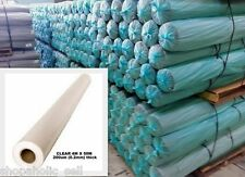 Clear Poly Film - Builders Film - Plastic sheeting - 4M wide x 50M x 200micron