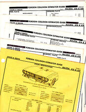 1971 1972 MAZDA 616 618 71 72 BODY PARTS LIST CRASH SHEETS MF RE