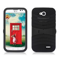 T-Mobile LG Optimus L90  Hard Gel Rubber KICKSTAND Case Cover + Screen Protector