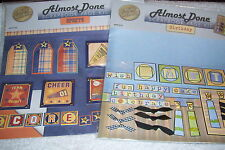 ALMOST DONE SCRAPBOOK PAGE KIT SPORT AND BIRTHDAY, NEW