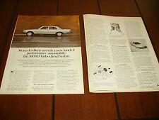 1978 MERCEDES BENZ 300D DIESEL  ***ORIGINAL  AD***