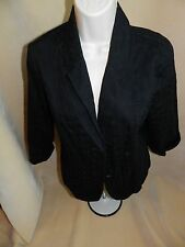 EUC Studio Works Black Lined Blazer size 12 Eyelet 3/4 sleeved