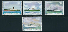 FRENCH POLYNESIA 1978 SAILING VESSELS STEAMERS etc (Scott 307-310) VF MNH