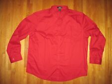 Big & Tall Men's Core 365 by North End Red Oxford Long Sleeve Shirt Size 3XL New