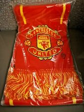 Manchester United FC Scarf Authentic Merchandise 100% Acrylic Made In UK Sealed