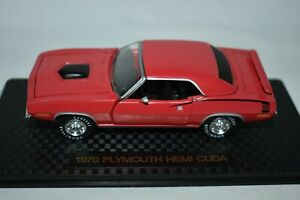 Road Champs 1:43 1970 Plymouth HEMI CUDA Red