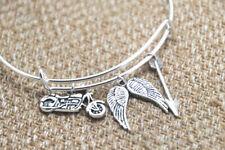 The Walking Dead Daryl inspired bracelet motorcycle Angel wings arrow bangle