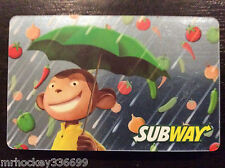 Subway Canada Mascott collectible gift card (no cash value) French/Eng