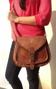 New Hobo Sling Tote Vintage Women Brown Goat Leather Vintage Ladies Satchel Bag