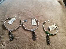 NWT ALEX AND ANI ARTIST'S PALETTE LOT of 3 BANGLES~Cloud~Pastel~Fern Retail$174