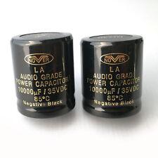 2pcs NOVER 10000UF 35V 85°C Audio Crade Power Capacitor DIY HiFi Stereo CAP