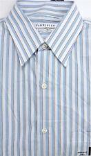 Van Heusen Men's Cotton Blend Dress Shirt Vintage Blue Striped 14 1/2 32/33