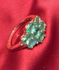 Emerald Zircon Fine Rings