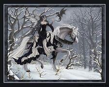 "Nene Thomas 8x10"" Print Fantasy Art A Chance Encounter Fairy Horse Dragon"