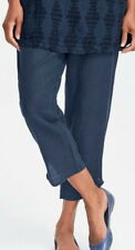 FLAX  Designs  Linen Pocketed Ankle  Pants     3G    NWT   MIDNIGHT