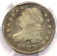 1823/2 Capped Bust Dime 10C (Small E's) - PCGS Fine Details - Rare Coin!