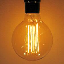 """Nostalgic 60W SUNLITE Edison Antique G30 Globe Light Bulb, Squirrel Cage, 3.74"""""""