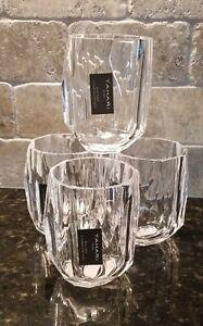 NEW TAHARI set of 4 Acrylic Crystal Clear 6oz Tumblers