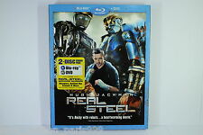 REAL STEEL BLU RAY disc BNEW SEALED w/slip cover