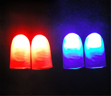 2Pcs Magic Trick Props Novelty LED Light Flashing Fingers Kids Glow Toys Gifts