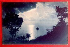 CPA. Carte Bleue. Bateau. Mer. Nuages. Lumière. Como. Vers 1910?